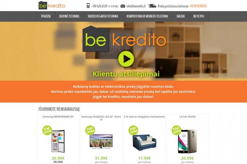 Interneto parduotuves vaizdas kompiuterio ekrane