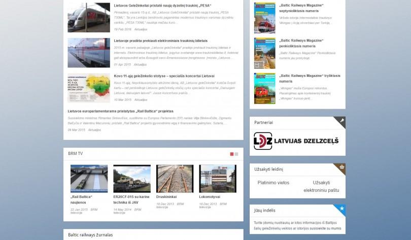 Interneto svetainės ekrano vaizdas