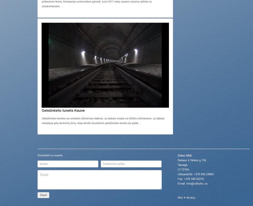 Tinklapio apie traukinius dizainas