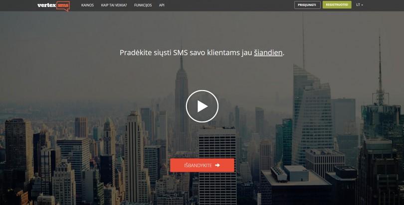 Interneto tinkalpio pagrindinio puslapio vaizdas ekrane